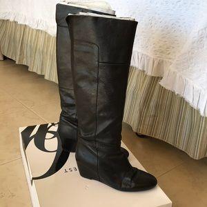 Nine West wedge knee high boots